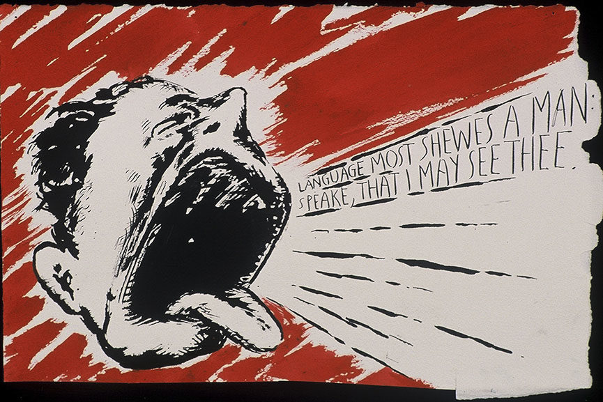Raymond Pettibon - No Title (Language most shewes...), 2000