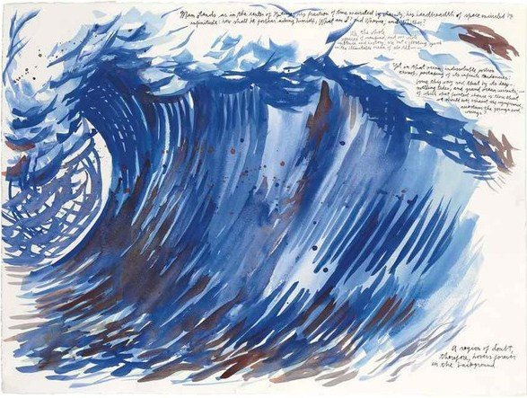 Raymond Pettibon-No Title (Man stands as)-2005