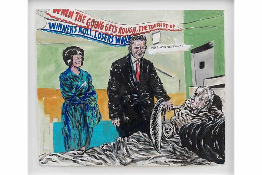 deichtorhallen hamburg exhibition contemporary art drawings Raymond Pettibon - No Title (When the going…), 2007