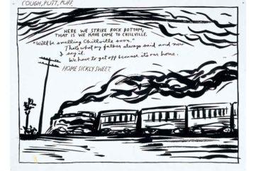 deichtorhallen hamburg drawings exhibition contemporary art Raymond Pettibon - No title, 1986, Pen and ink on paper