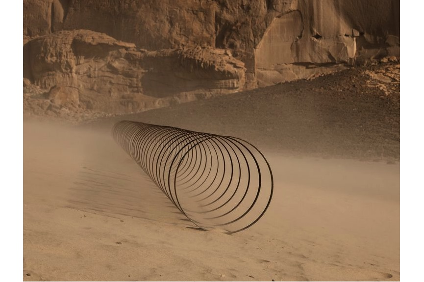 Rayyane Tabet - Steel Rings (from the series The Shortest Distance Between Two Points), Desert X AlUla
