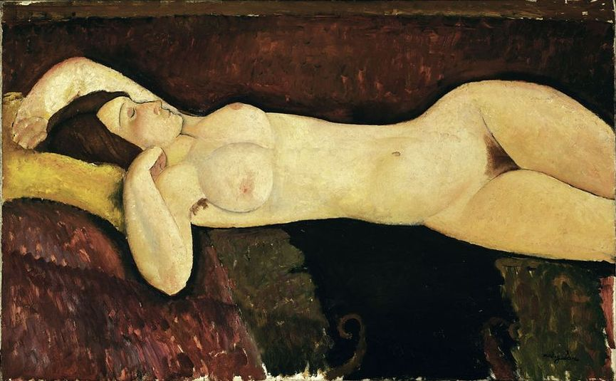 Amedeo Modigliani - Reclining Nude, 1919