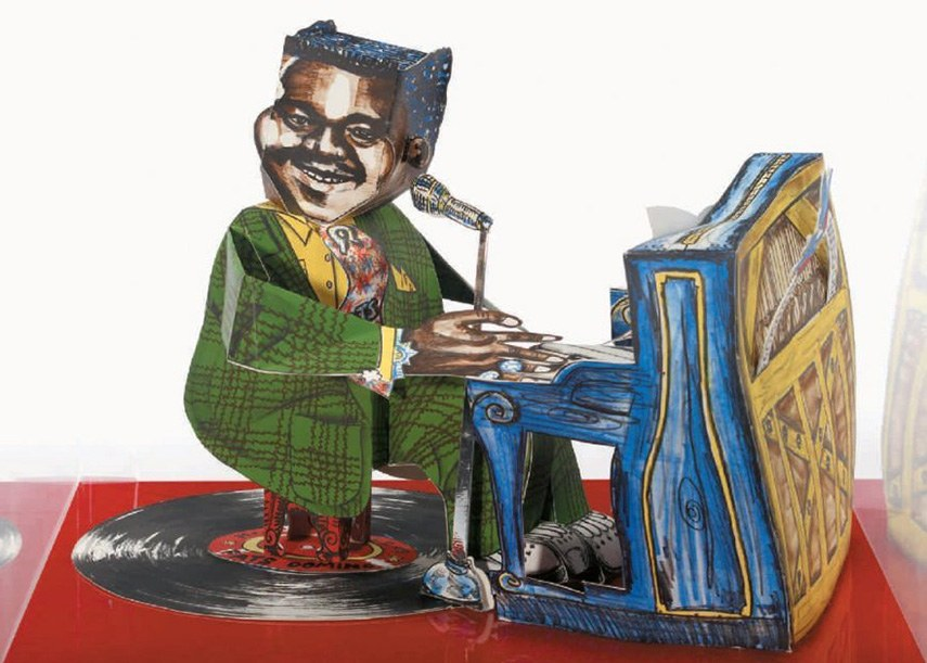 Red Grooms - Fats Domino, 1984 - image via liveauctioneers.com museum gallery museum gallery museum museum museum