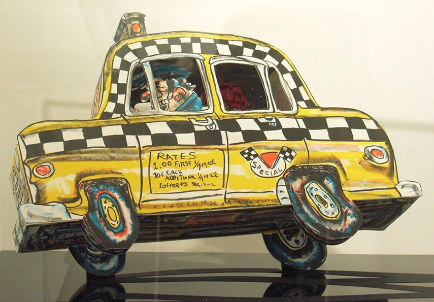 Red Grooms - Ruckus Taxi, 1982 - image via a.1stdibscdn.com