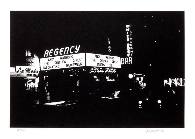 Regency cinema Chelsea Girls marquee