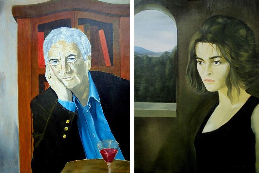 Reginald Gray - Derry O'Sullivan (Left) / Helena Bonham Carter (Right)