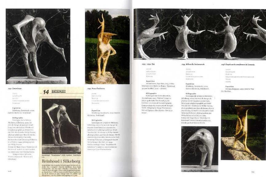 Reinhoud D'Haese's Catalogue Raisonné Sculptures 1993 - 2000 - Image via lepuitsauxlivrescom