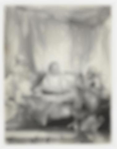 Rembrandt van Rijn-Christ at Emmaus: The Larger Plate-1654