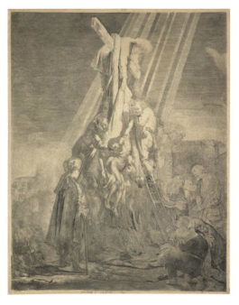 Rembrandt van Rijn-Descent from the Cross: The Second Plate-1633