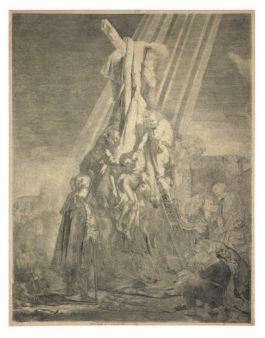 Rembrandt van Rijn-Descent from the Cross: The Second Plate-1633