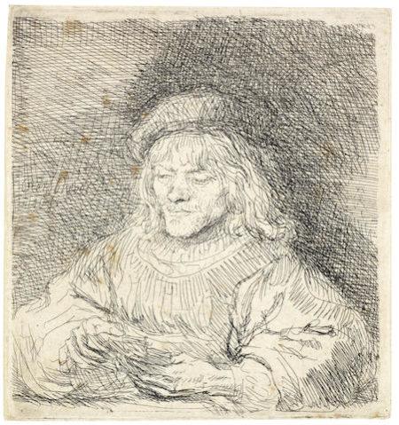 Rembrandt van Rijn-The Card Player-1641