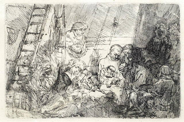 Rembrandt van Rijn-The Circumcision in the stable-1654