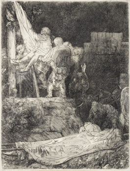 Rembrandt van Rijn-The Descent from the Cross by Torchlight-1654