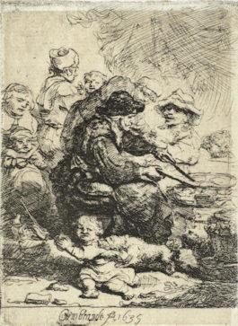 Rembrandt van Rijn-The Pancake Woman-1635