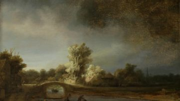 Rembrandt van Rijn - Landscape with a Stone Bridge