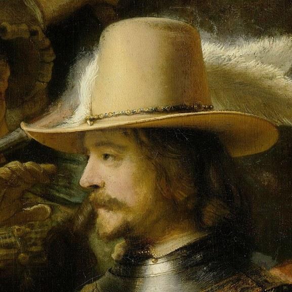 Rembrandt van Rijn - Portrait of Willem van Ruytenburch, The Night Watch detail
