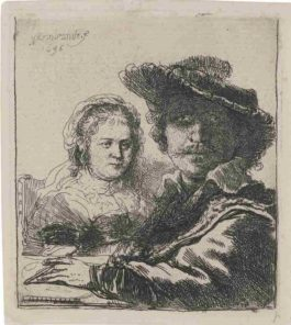 Rembrandt van Rijn-Self Portrait With Saskia-1636