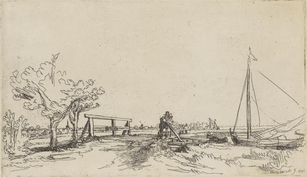 Rembrandt van Rijn-Six's Bridge-1645