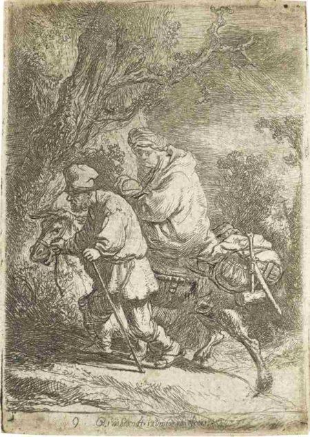 Rembrandt van Rijn-The Flight Into Egypt: Small Plate-1633