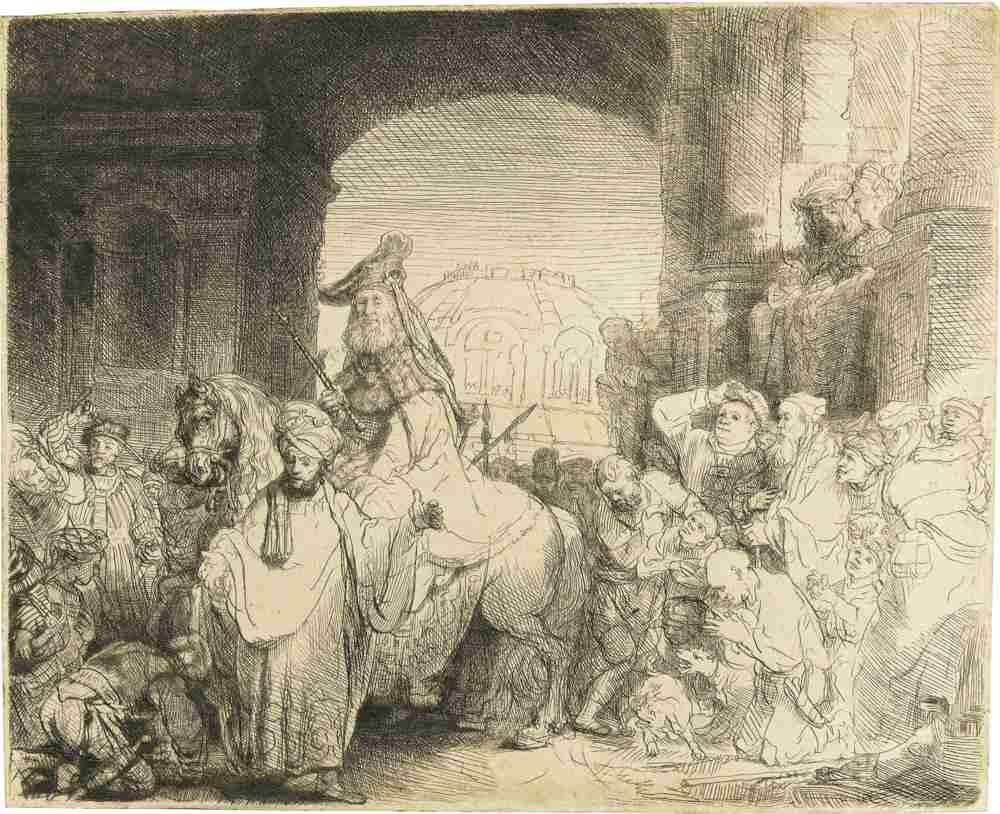 Rembrandt van Rijn-The Triumph Of Mordecai-1641