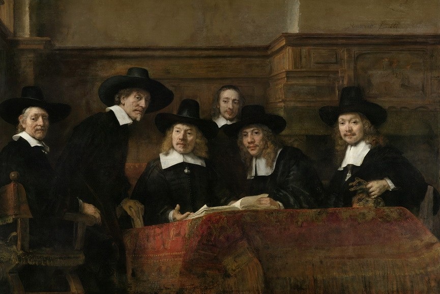 Rembrandt van Rijn - The Wardens of the Amsterdam Drapers' Guild