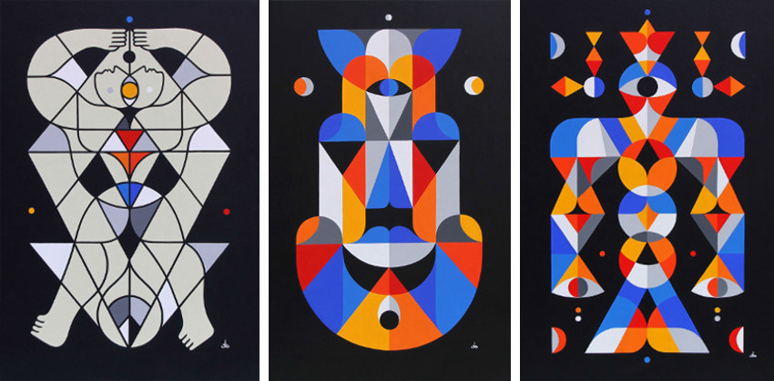 Remed - Akundali, 2014 (Left) - Hamsa O Ana, 2014 (Center) - Vesica Vuelo, 2015 (Right)