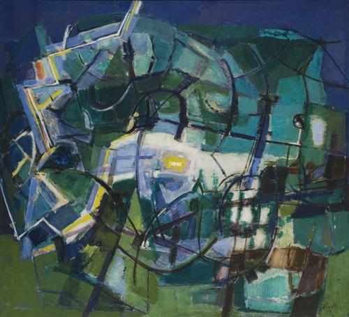 Renato Birolli-Fulmine Sul Vigneto-1954