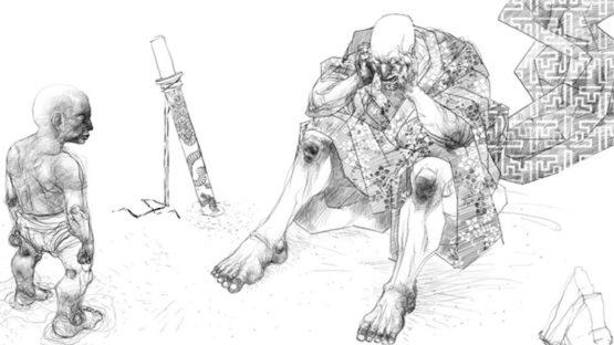 Rene Almanza - Serie Historia de un guerrero, Samuray desolado (detail) - 2007
