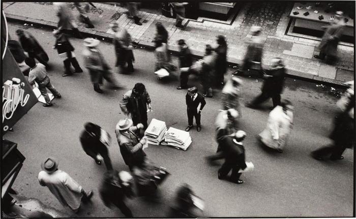 Rene Burri-Newspaper Seller, Calle Florida, Buenos Aires, Argentina-1960