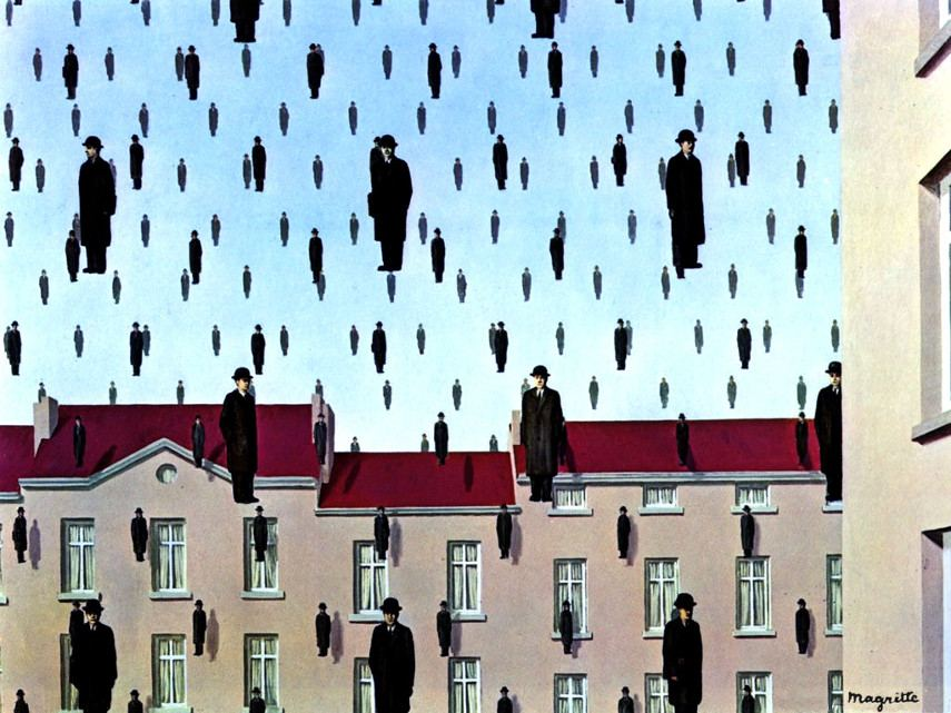 The example of repetition in art in Rene Magritte painting
