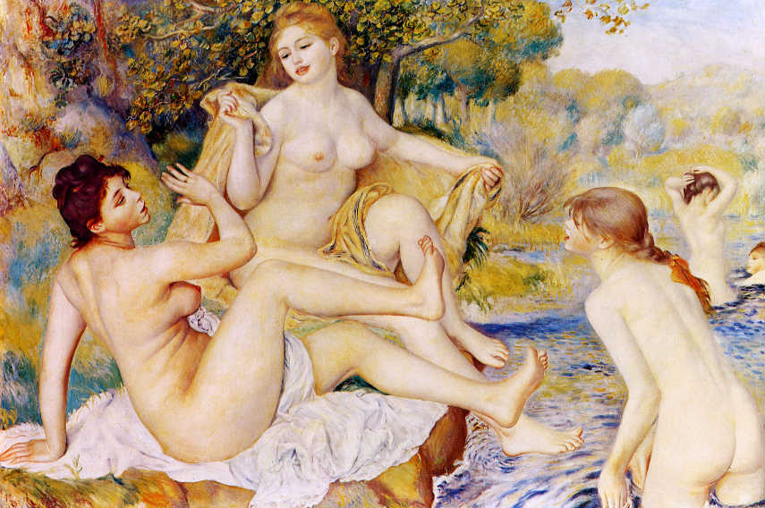 Renoir Pierre-Auguste - The Large Bathers, 1887, Image via wikiartorg