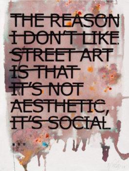 Rero-The Reason I Don't Like Street Art is That It's Not Aesthetic, it's Social...-2012