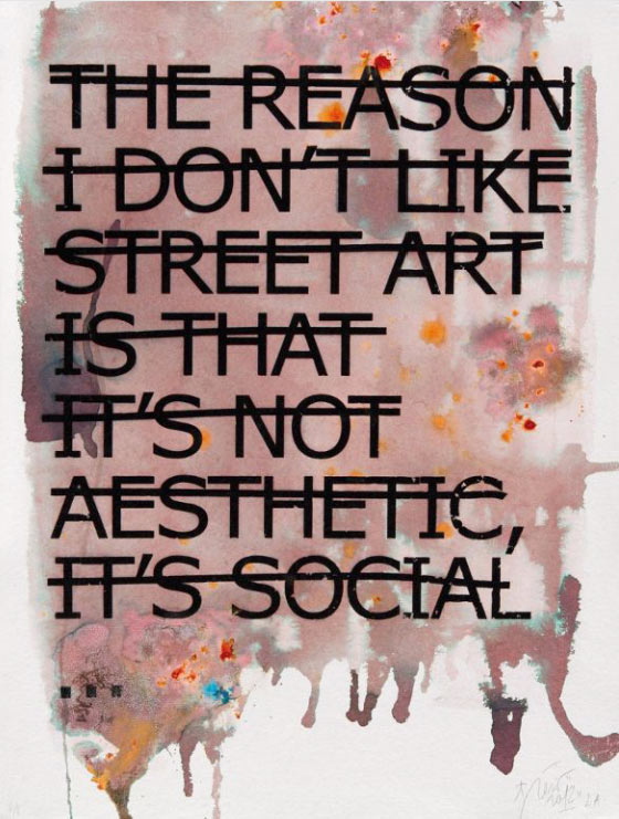 Rero-The Reason I Don't Like Street Art is That It's Not Aesthetic, it's Social...-2012