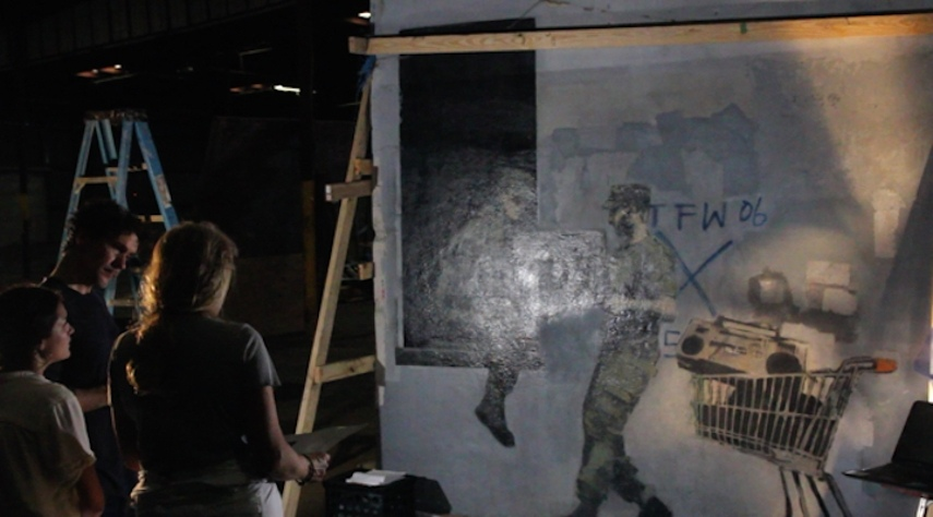 Restoring the Banksy piece