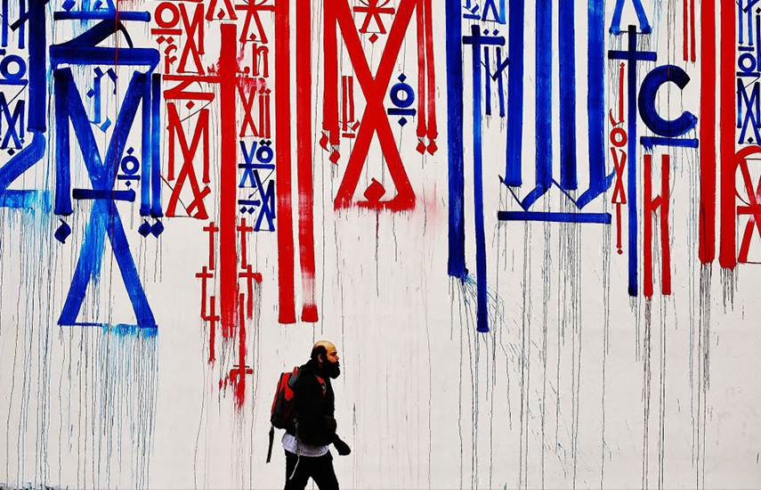 Retna - Mural in downtown LA, 2012 english