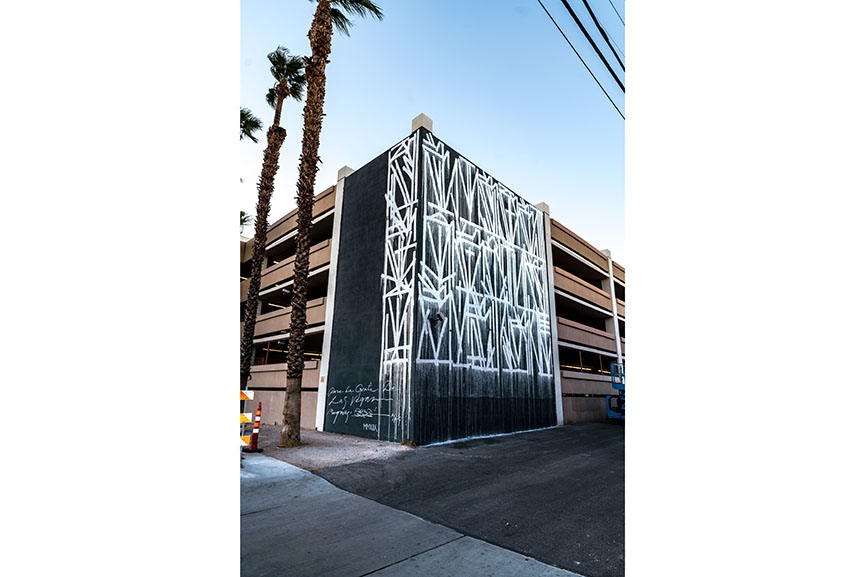 Retna mural Life is Beautiful Las Vegas 2018