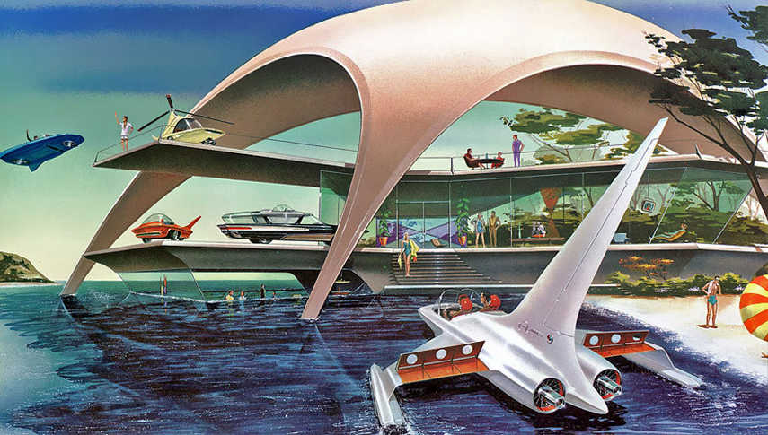retro futurism space comments link post design  futuristic retrofuturism books new