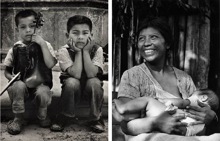 Reva Brooks - Aspirantesa Musicos - 1950s (Left) / Madre Felicidad - 1950s (Right) Photo Credits Tumblr