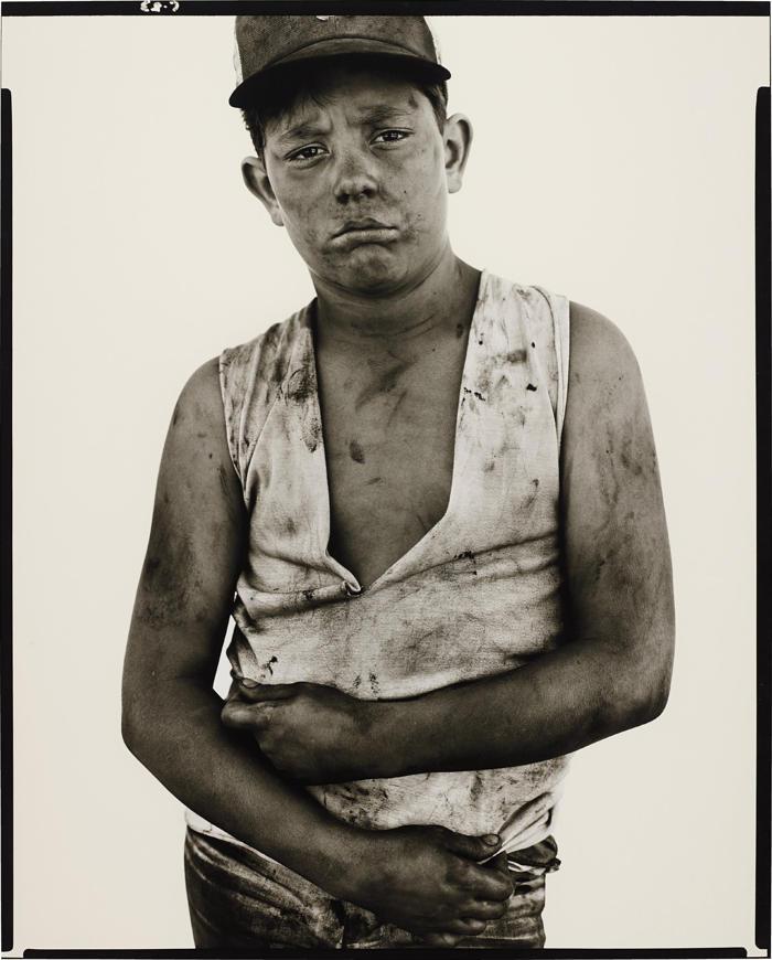 Richard Avedon-Bubba Morrison, oil field worker, Albany, Texas, June 10-1979