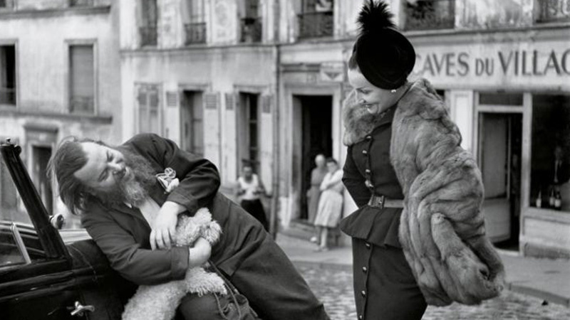 Christian Berard and Renée, Le Marais, 1947