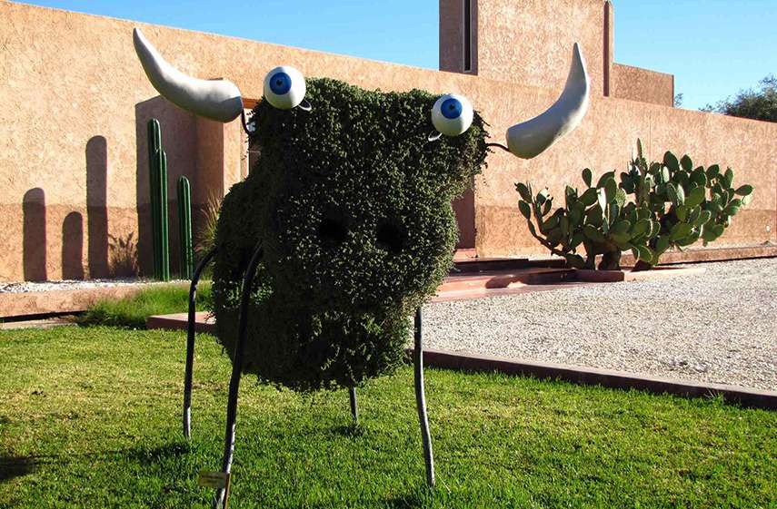 Richard Di Rosa - Sculpture at Dar Sabra Hotel in Marrakech - image via miss-hotel