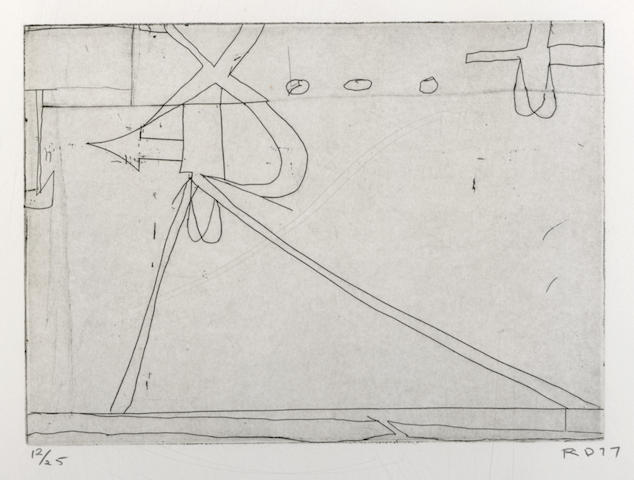 Richard Diebenkorn-#6 from Nine Drypoints and Etchings-1977