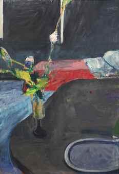 Richard Diebenkorn-Interior with Flowers-1961