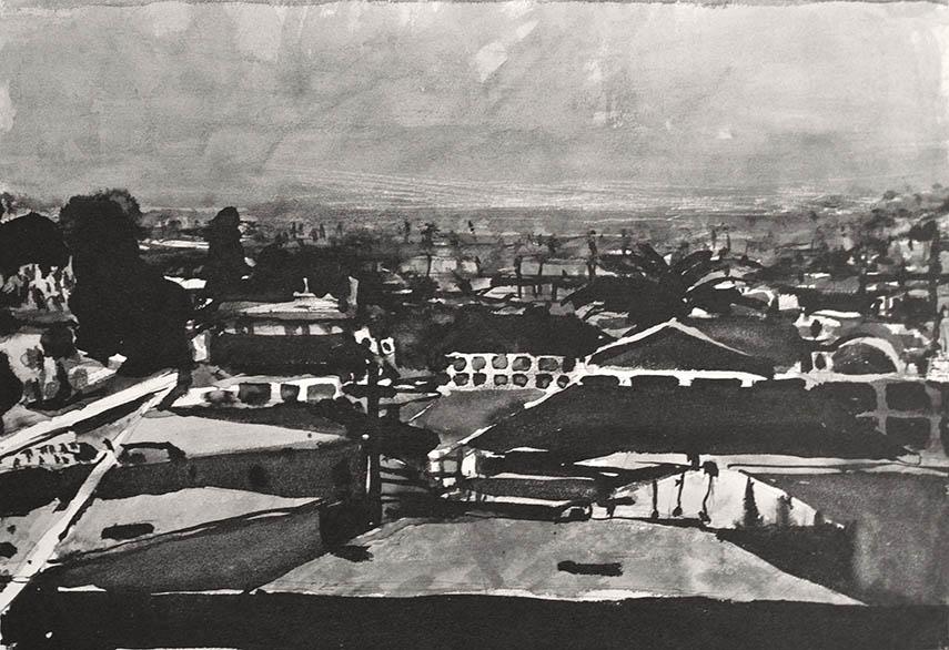 Early works of San Francisco based artist Diebenkorn were mainly modern drawings