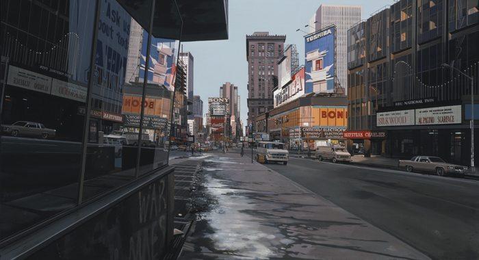 Richard Estes-Times Square At 3:53 P.M., Winter-1985