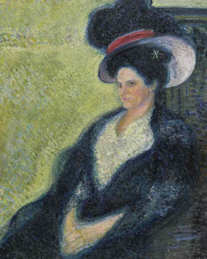 Richard Gerstl-Dame Mit Federhut-1906