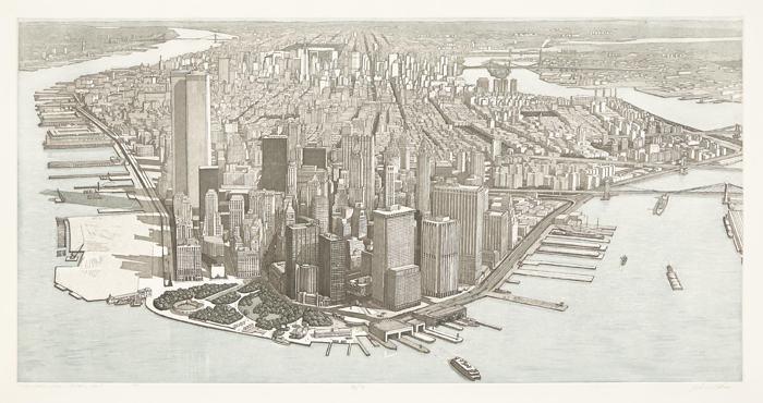 Richard Haas-Manhattan View, Battery Park-1980