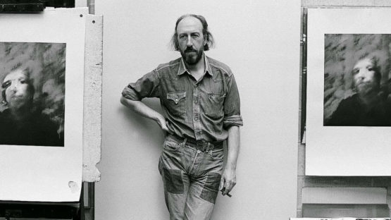Richard Hamilton in his studio, 1956