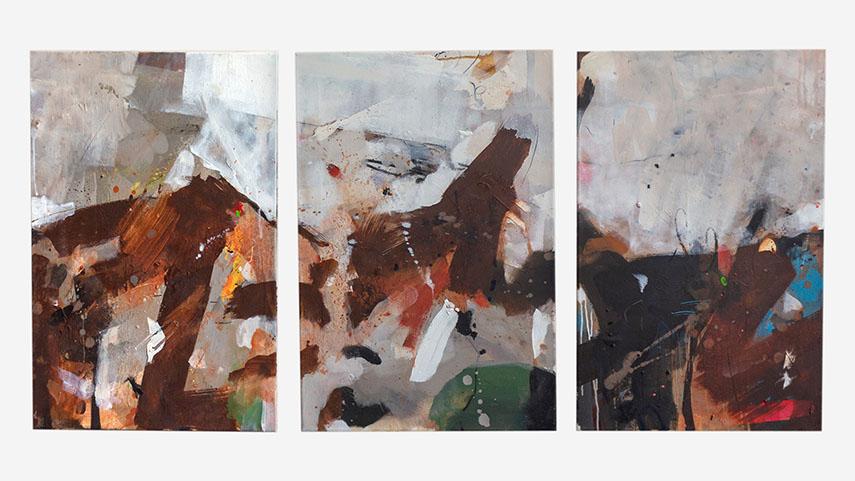 Richard Hearns - Calgary (triptych), 2017