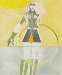 Richard Lindner-Girl with Hoop-1969